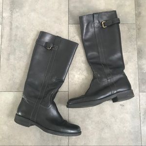 J. Crew BREWSTER tall black leather riding boots!